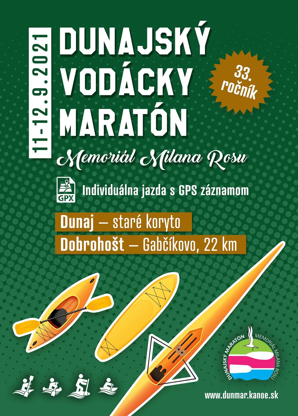 Dunajský vodácka maratón 2021